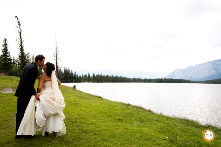 Mountain wedding photo