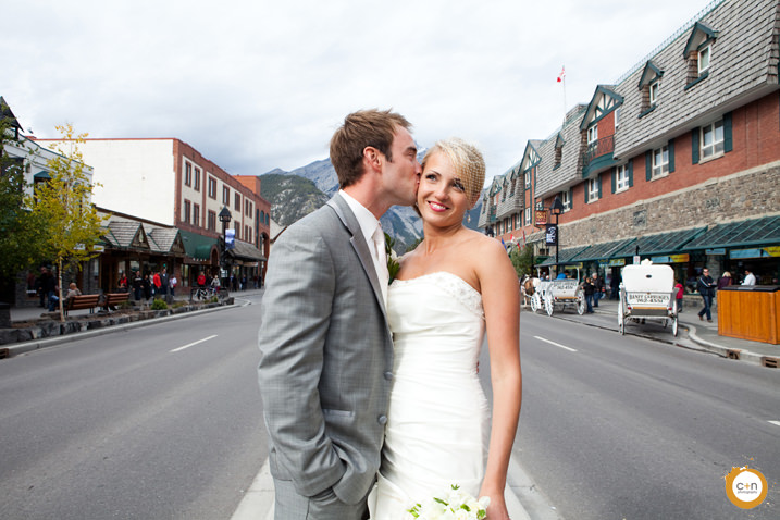 Banff ave wedding photo