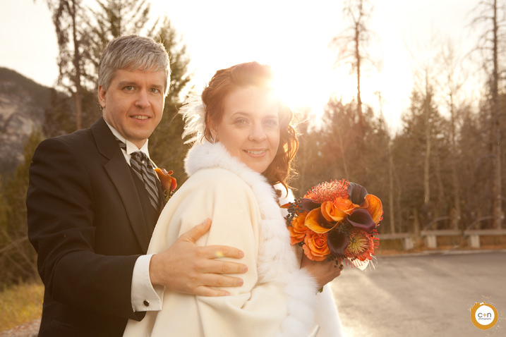 wedding portrait in Banff