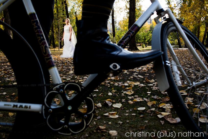 Cycling wedding photography