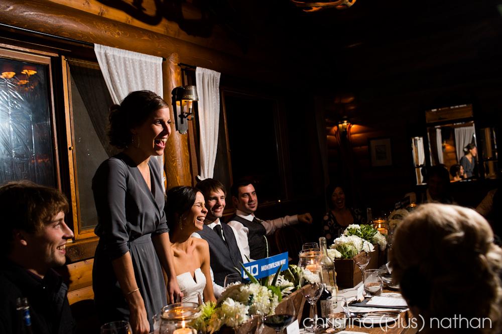 Baker Creek Chalets Reception for Wedding
