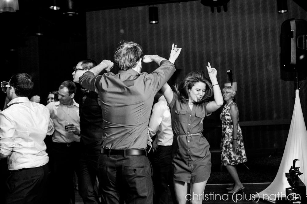 Dance Floor in Hotel Arts Wedding