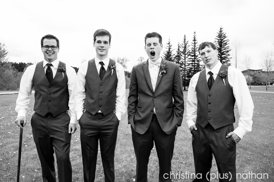 groomsmen calgary wedding