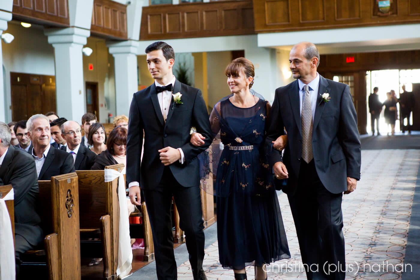 Calgary St.Marys Church Wedding Ceremony