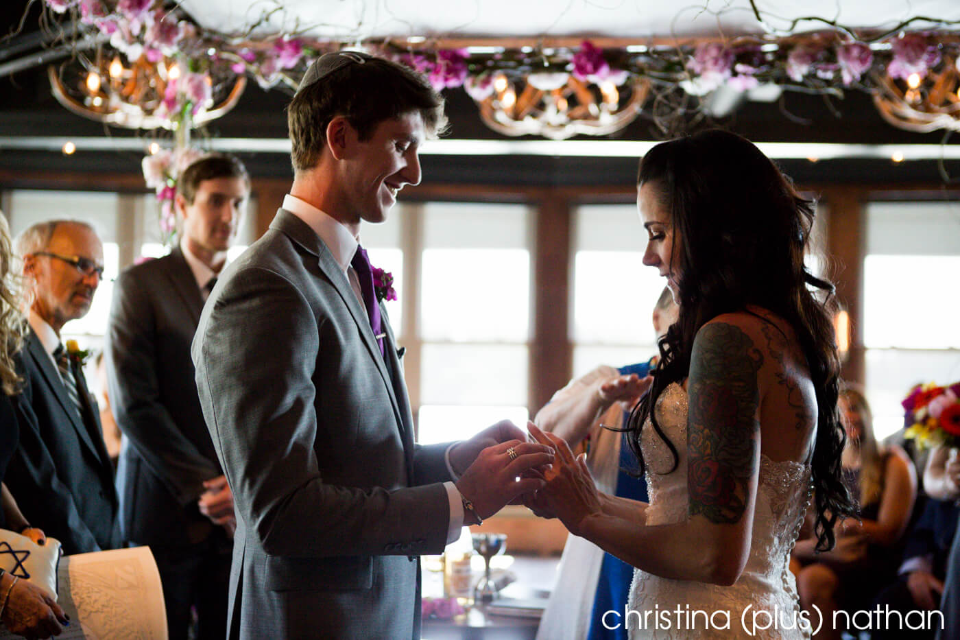 Jewish Calgary Lake House Wedding
