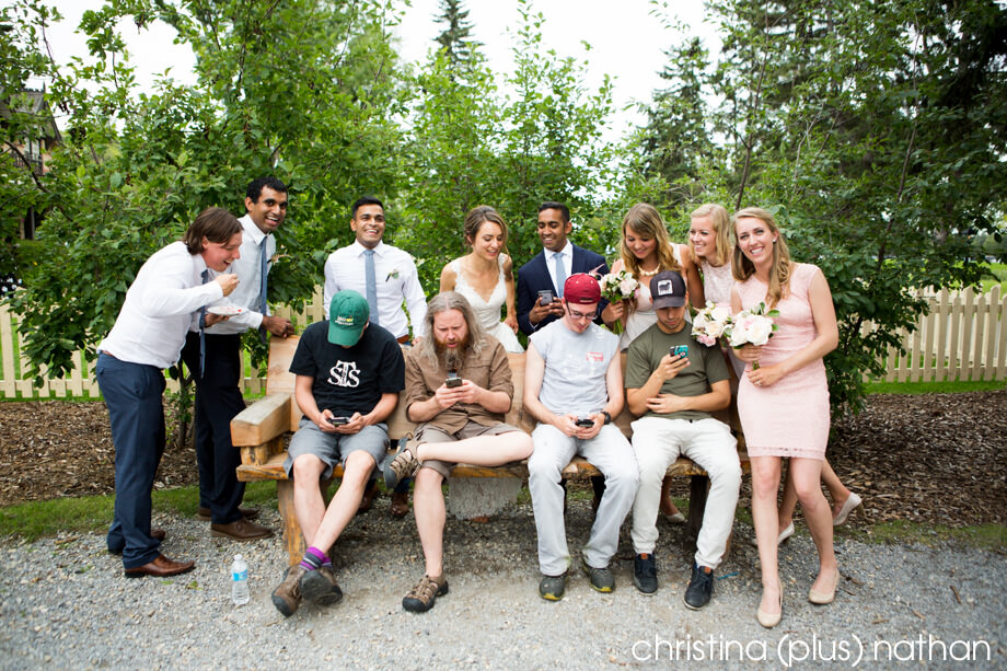 Pokemon players at Bow Valley Ranche wedding