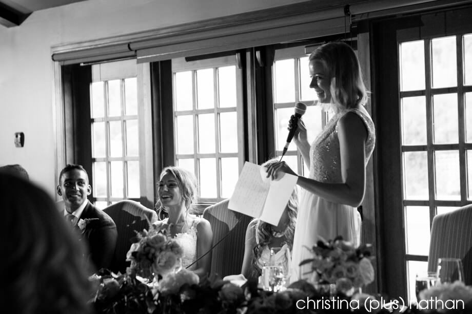 Speeches at Bow Valley Ranche Wedding
