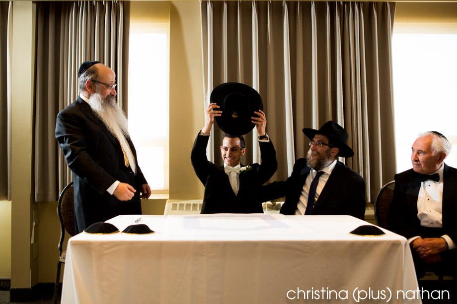 Rabbi at Badeken