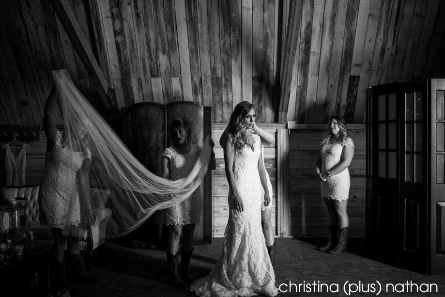 Bride at willow lane barn