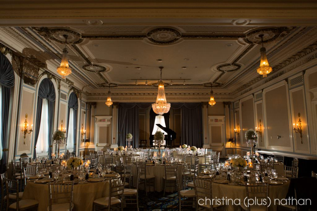 Crystal Ballroom reception set up photos