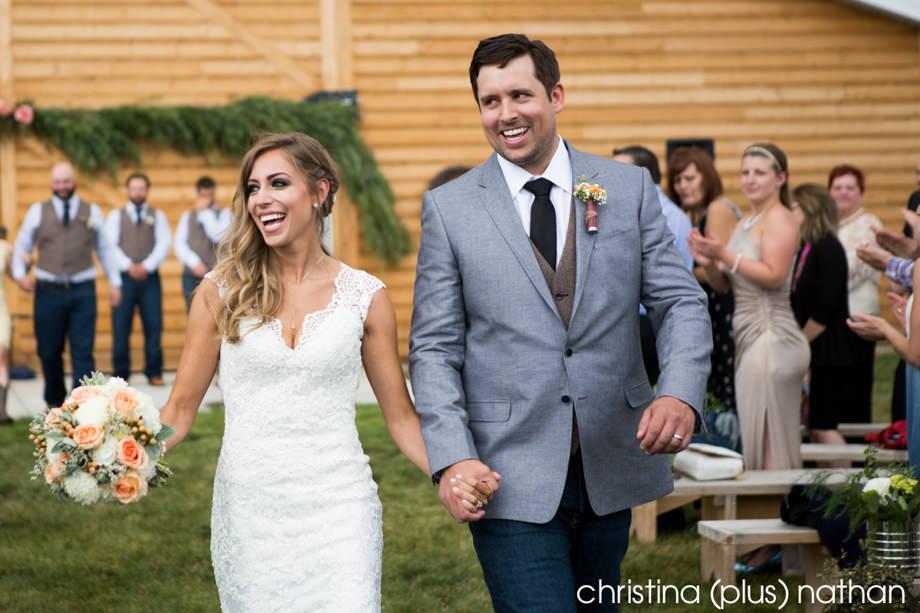Wedding Ceremony at Albeta Barn