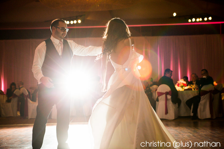First dance at Calgary Jewish wedding