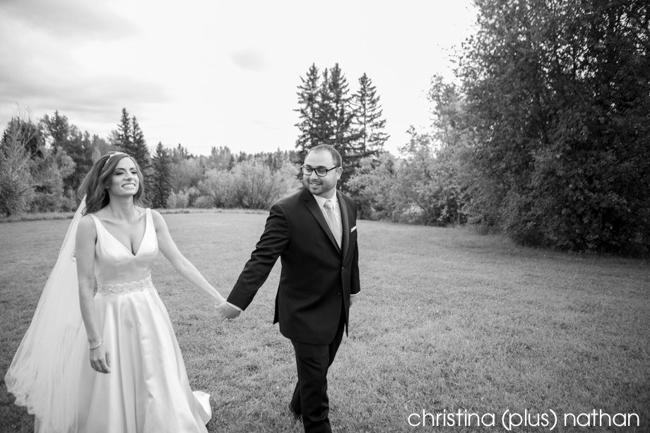 relaxed portrait of a Calgary bride and Groom