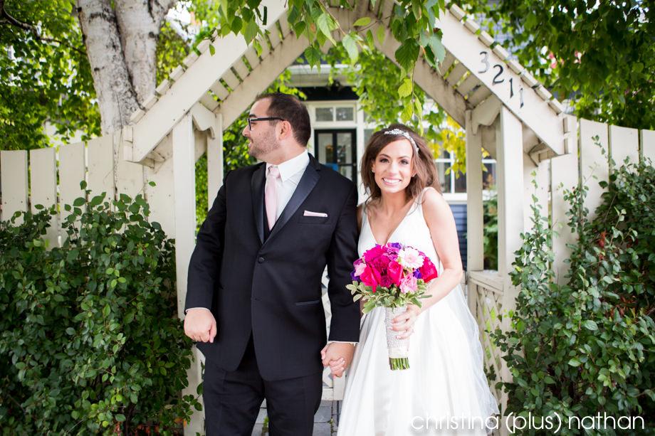 Calgary wedding portrait on Elbow Drive