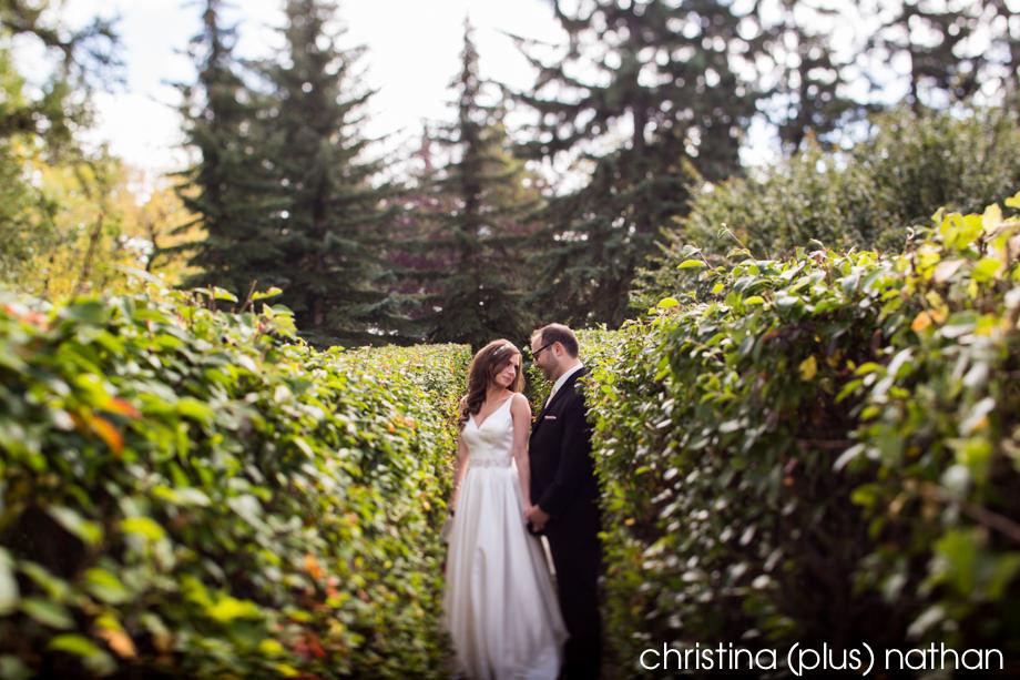 Gerry Shaw Gardens wedding photos in Calgary