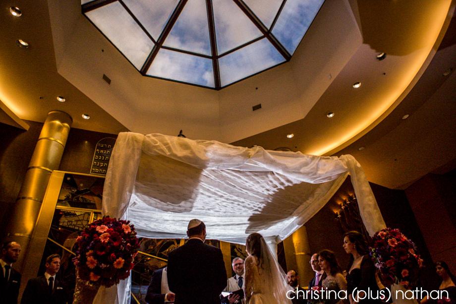 Beth Tzedec wedding ceremony with Calgary wedding Photographer