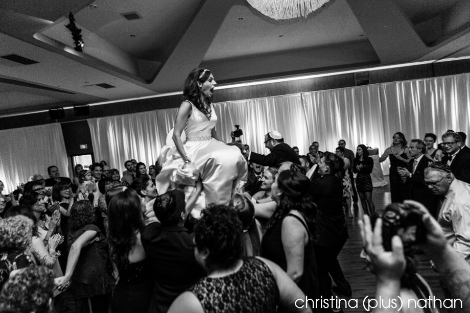 Jewish wedding Hora in Calgary