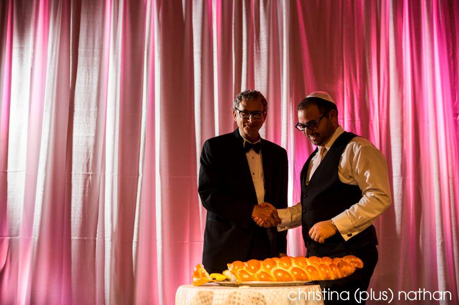 Jewish wedding reception in Calgary