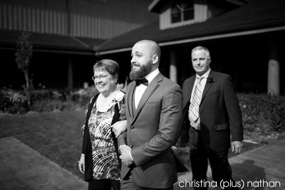 Calgary ranchhouse wedding ceremony