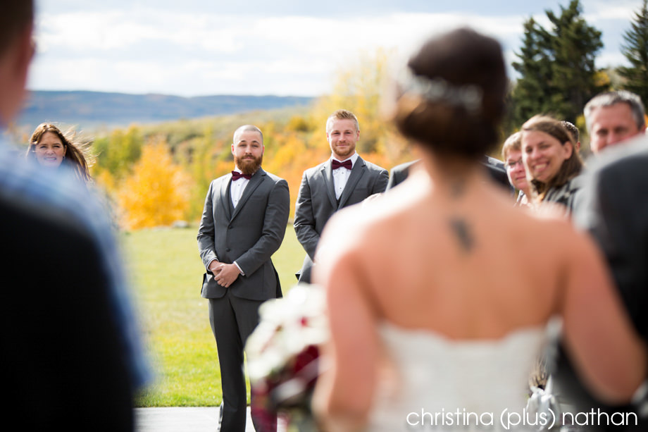 Calgary ranche house wedding ceremony