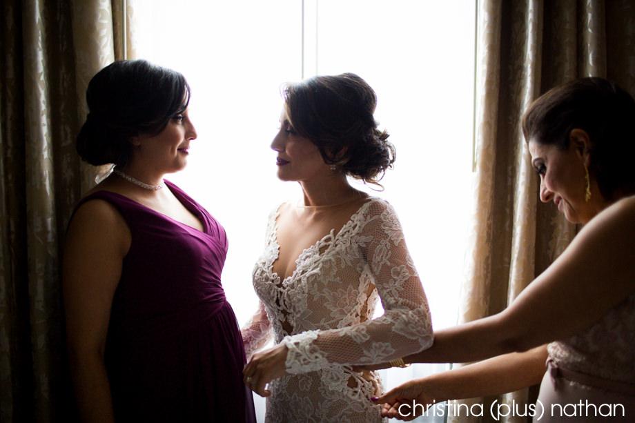 Mom is putting dress at Palliser Hotel Wedding