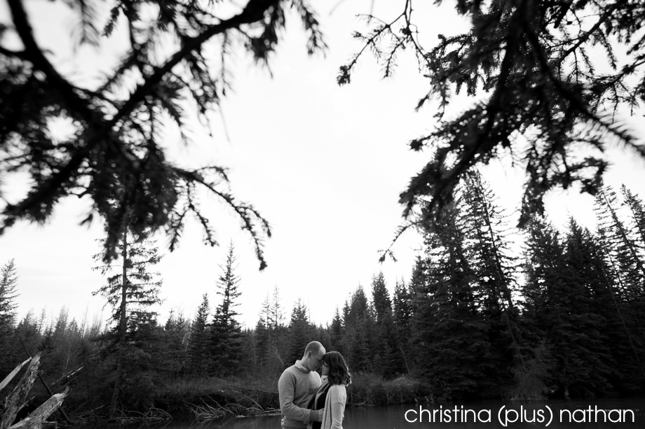 Black and White Engagement Photography-mr