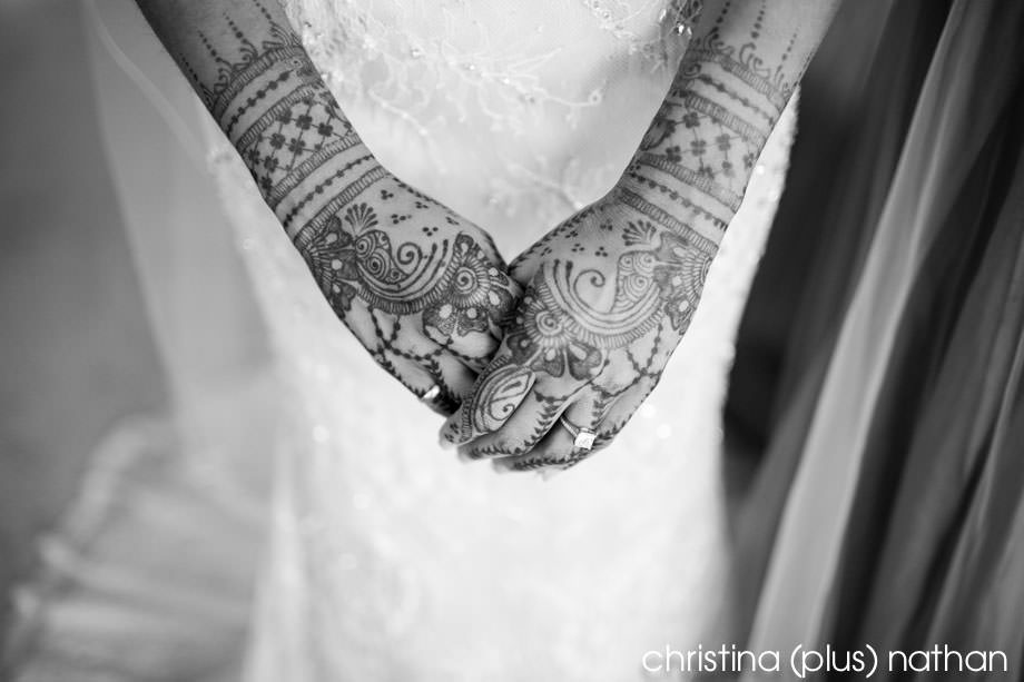 Mehndi and white dress