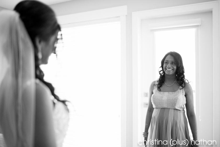 Sister sees bride