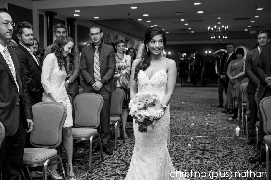 Bride surprised at Fairmont Palliser Hotel