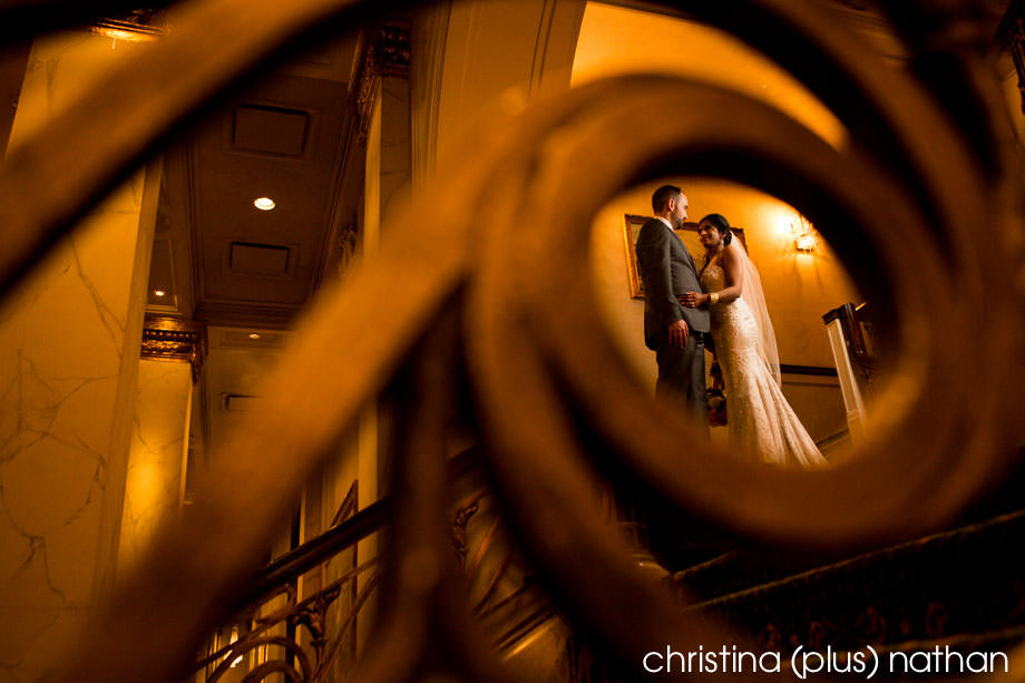 Wedding photography Fairmont Palliser Staircase