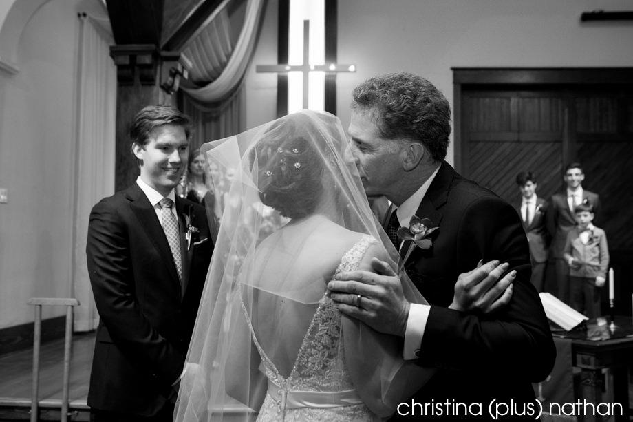 wedding ceremony at Hillhurst church