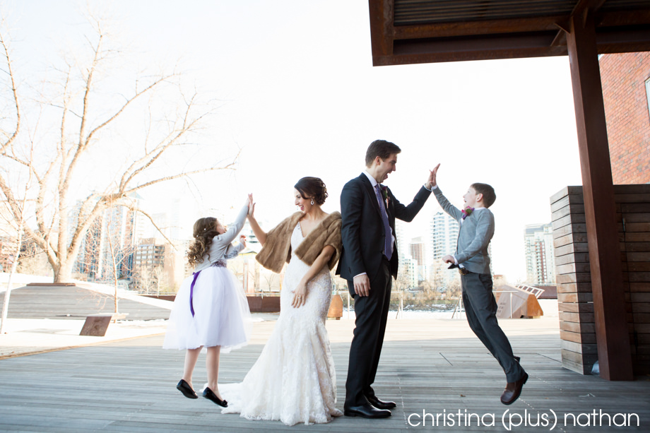 calgary wedding photographers for a winter wedding