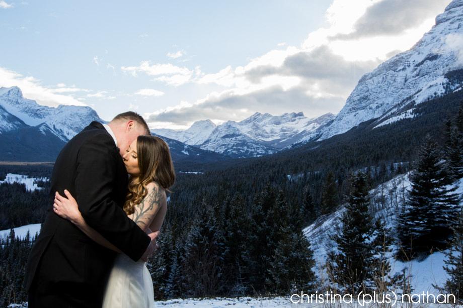 Kananaskis winter wedding