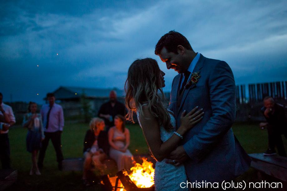 Willow Lane Barn Wedding Bonfire