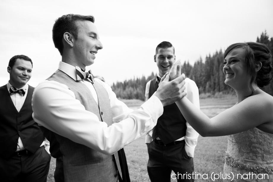 Calgary wedding photography - backyard