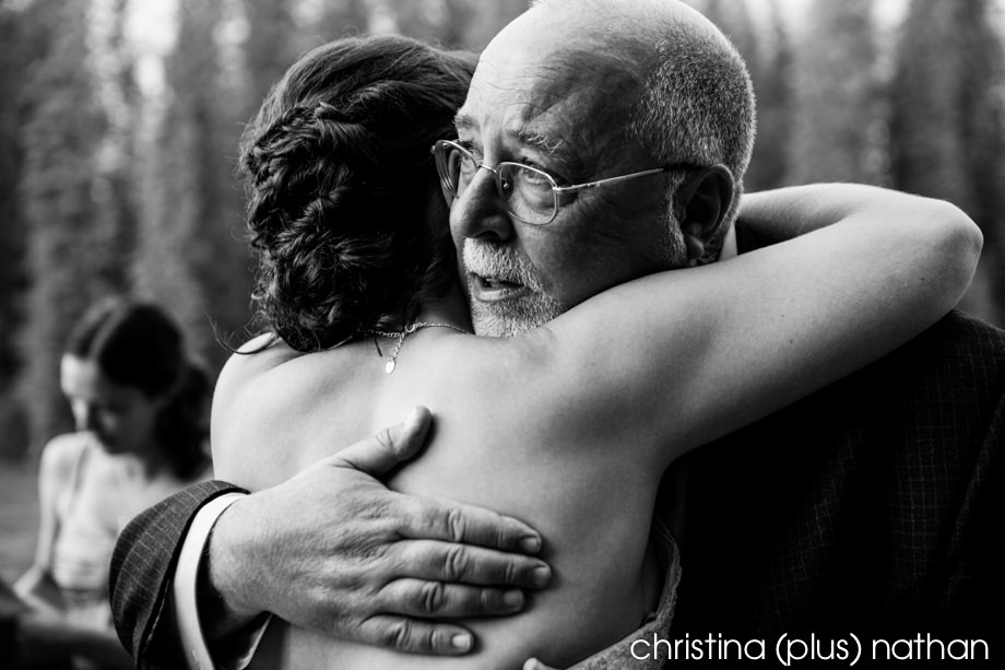Emotional moment wedding photography