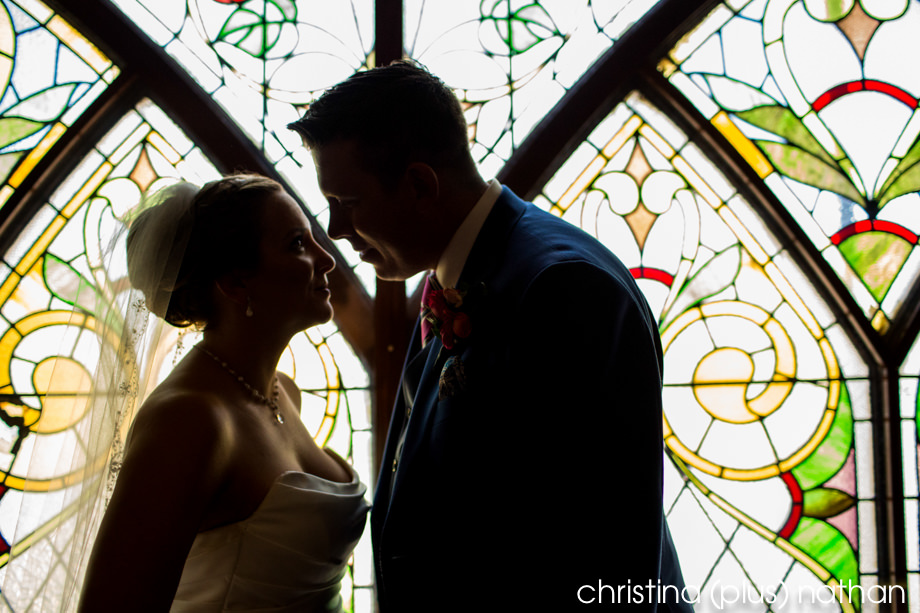 Stain glassed wedding photography