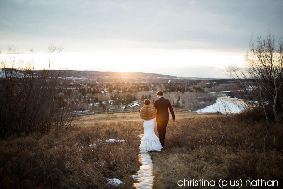 Winter wedding in Calgary