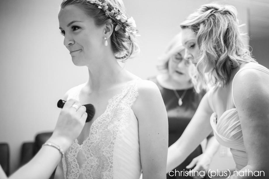 Bride emotional getting ready