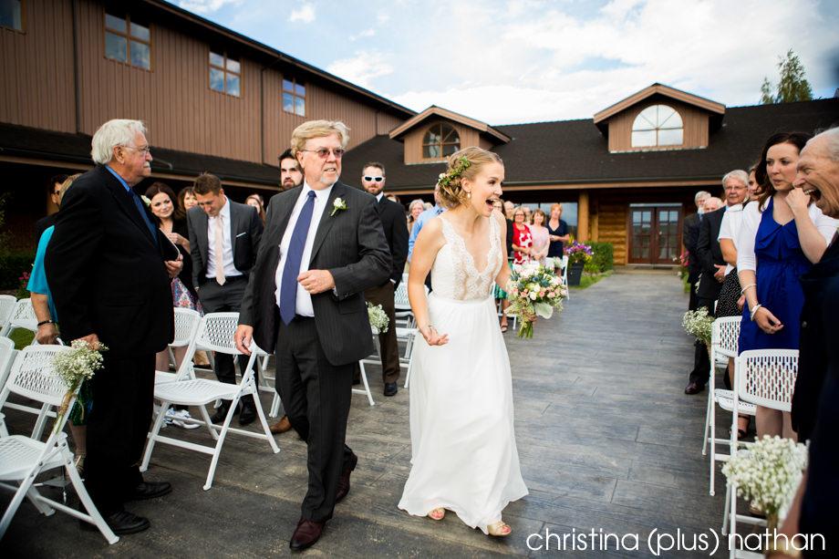 Bride and grandpa at wedding