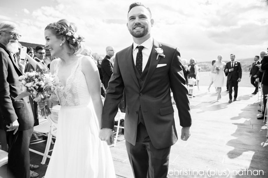 Outdoor wedding ceremony in Cochrane