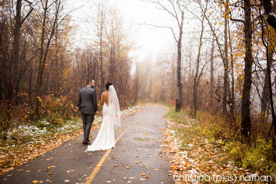 Calgary winter wedding photographers