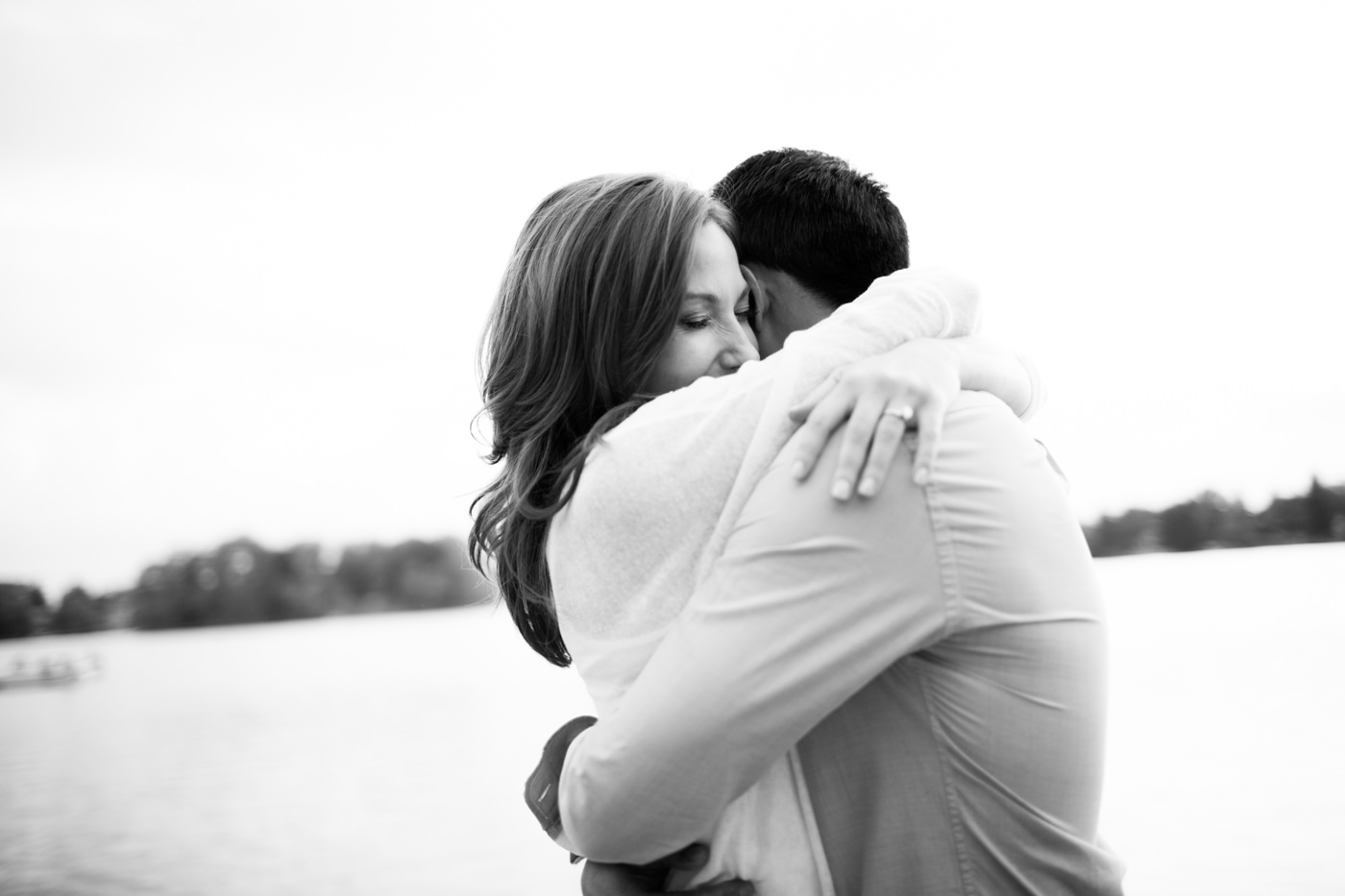 Calgary black white engagement photography