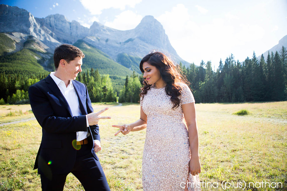 Engaged Canmore Calgary Wedding
