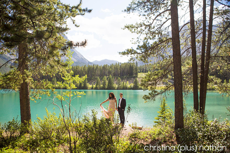 Rocky Mountain Canmore Photographers Engagement