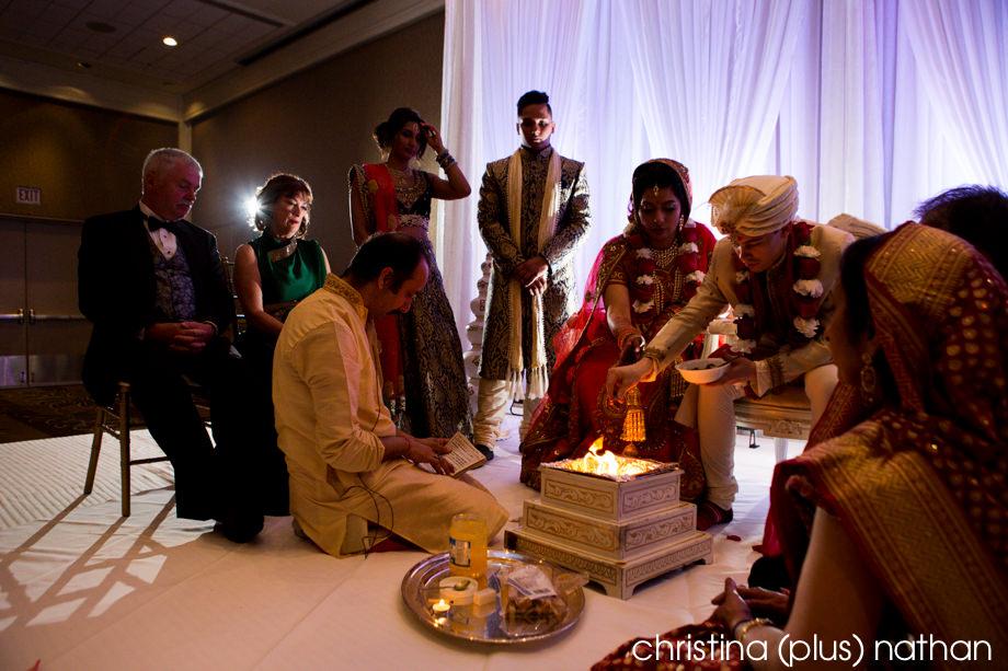 Westin hotel Calgary Hindu ceremony photography