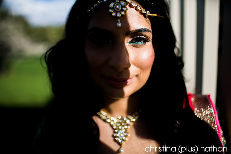 Indian modern hindu bride photography