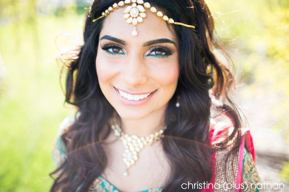 Hindu bride Calgary Portrait