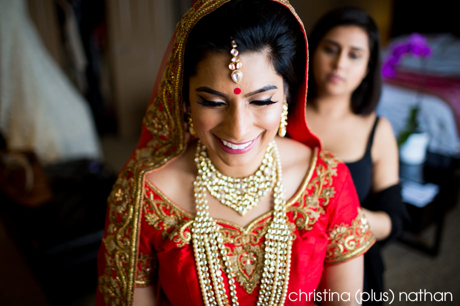 Red indian wedding outfit