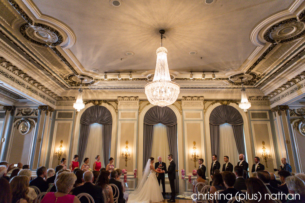 Ceremony in the Crystal Ballroom at the Fairmont Palliser